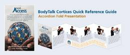 These 6-panel accordion-fold laminated cards (2 ½ x 4 ¼ inches when folded) show anyone how to do the BodyTalk Cortices technique on themselves or